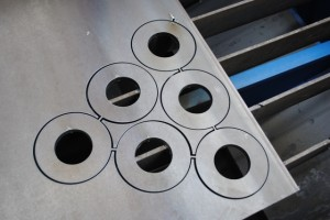 plasma cutting steel plate in Dubai