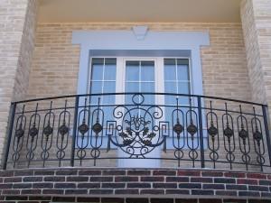 wrought-iron balcony railings